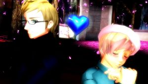 MMD - Sweden and Finland by MoonlitSatin