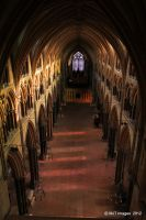 Looking Down in Lincoln Cathedral by MichaelJTopley
