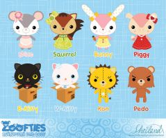 ZOOFTIES - Round 1 designs by Nestery