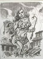 Giganta with a little Wonder Woman by deankotz