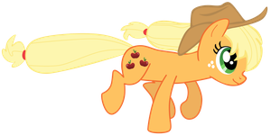 My fourth vector of, Applejack. by Flutterflyraptor