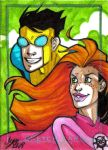 Invincible Charity Sketch Card by y2jenn