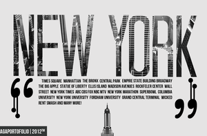 New York Typography by agaaachr