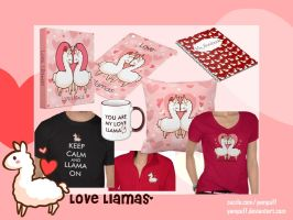 Love Llama Items on Zazzle! by YamPuff