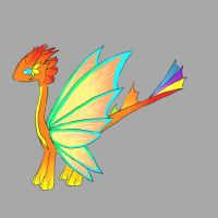 Mature form, Moon butterfly dragon, Sundown by minecraftmobs456