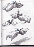 Hover craft Sketches by SamMuk1R1