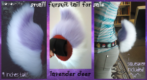 (sold) lavender deer/rabbit/goat tail by QueenAyria