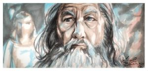 I'm afraid, and he gives me courage... -Gandalf by Tyliss