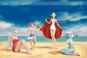 Lineage summer in pin-up style by Koshha