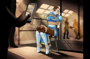 Chun Li's Tight Situation by HeartGear