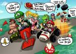 When Friends Play Mario Kart by HanieMohd