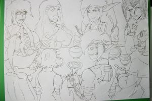 Dinner time with my OCs... ==' by BuffaloBorgine