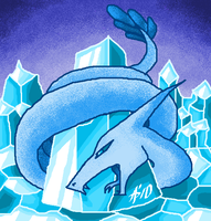 Ice-Rock's Dragon: Blue by AskyPanda