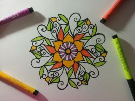 First colored mandala by SephelLicary