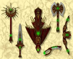 Weapon Set by NightShade1919