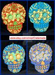 Skull wooden art wall decorations preview set 2 by godzillasmash