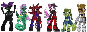 Adoptables Batch Three by TeaLadyC8LIN