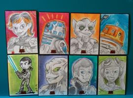 Star Wars Rebels Sketch cards by artyewok