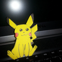 Pikachu Relaxes on my Laptop by ringwraith10