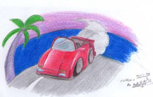OutRun - mini log Drawing by Reallyfaster