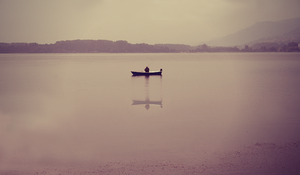One man fishing by MonicaYar