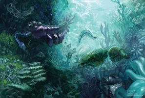 Cambrian Reef by psychohazard