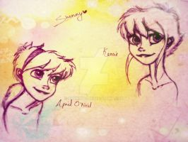 Glen Keane Turtle girls by Shenny-Shendelier