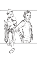 Commanders and Generals: Fox and Padme WIP by Hodges-Art