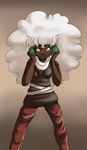 Whimsicott Gijinka no background by Lovely-Words