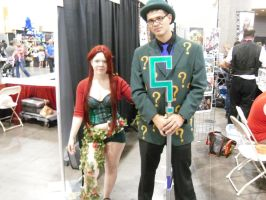 The Riddler and Poison Ivy by Elemental-wyvern