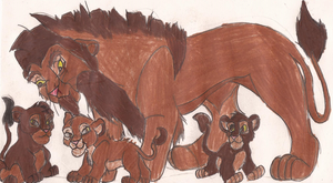 bloodredoc Tufani and his cubs! XD Yeah! what  by wasfight17