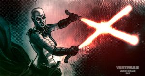 Asajj Ventress Color by thedanhale