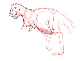 Dino sketch by QuestionRenee