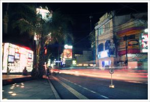 Legian's Light Trails by kharismaaditya
