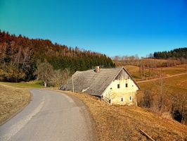 Traditional abandoned farmhouse by patrickjobst