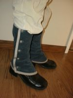 Blue Corduroy Gaiters by Torenchiko-to