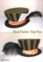 Mad Hatter Top Hat by flamarahalvorsen