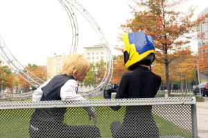 Shizuo and Celty by nenco