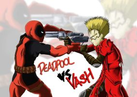 Deadpool vs. Vash by zetto13