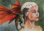 ACEO - Daenerys - watercolor by Giselle-M