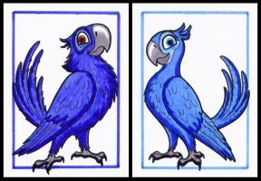 ACEO - Blu And Jewel by Goldy--Gry