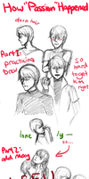 Drew and May sketchdump - aka How Passion Happened by poplarleaves