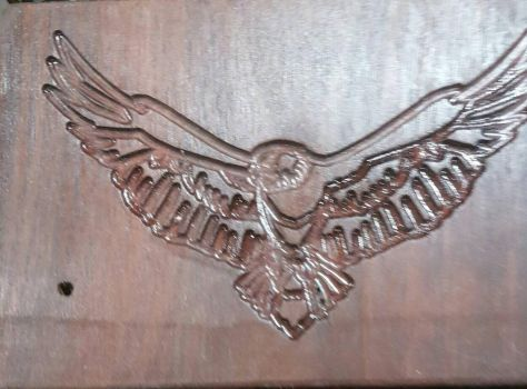 Eagle Carving  by TaylorWallArt