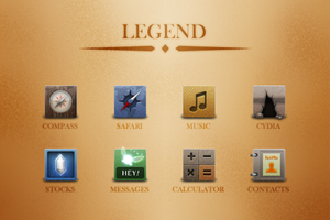 Legend iOS Theme Idea by andrewjaguirre