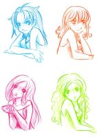 Four colours, four people. by Neye