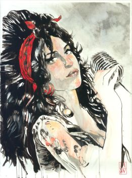Bluewater Comics Tribute to AMY WINEHOUSE Cover E by BrentJS