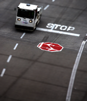 Tilt Shift Airport Scene by MobyMotion