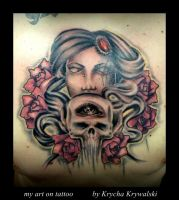 my art on tattoo by Krycha by MWeiss-Art