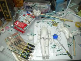 BJD wip + work table by TherieKardie