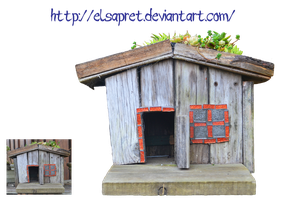 Little wooden house png by Elsapret